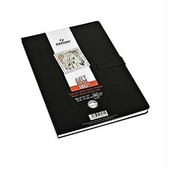Canson Art Book 180° 200006461 Livre de dessin 80 feuilles 96g 21,6 x 27,9 cm Noir