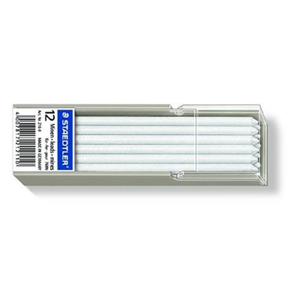 Staedtler 218-0 Lot de 12 mines pour Lumocolor omnichrome non-permanent (Blanc) (Import Allemagne) - Photo n°1