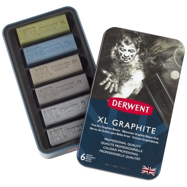 qualité professionnelle Lot de 6 Entièrement Neuf dans sa boîte Derwent XL Tinted fusain blocs