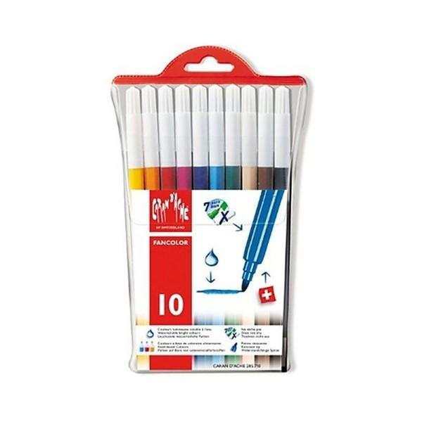 Caran d'Ache Fancolor Fiber-Tipped Pen Kit 10 Colors Toy - Photo n°1