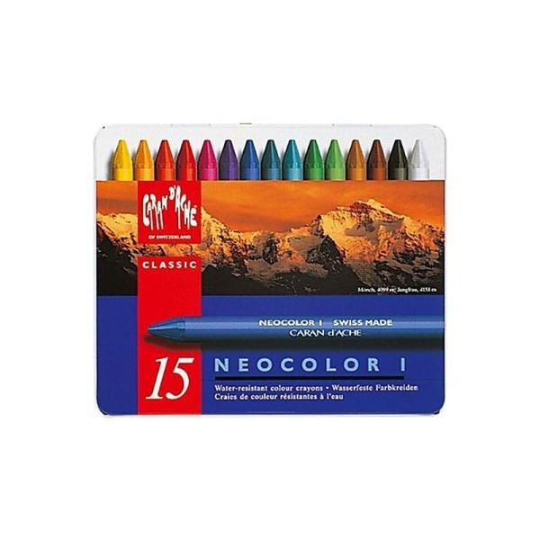 Crayons de cire Caran D'ache Neocolor I - 15 pcs - Photo n°1