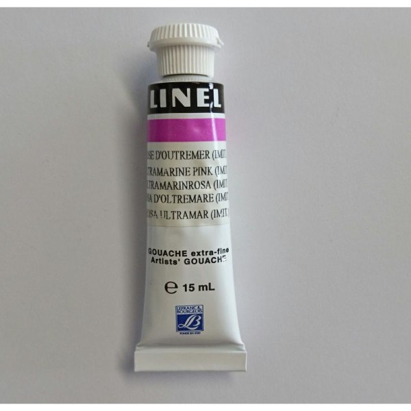 Tube gouache 15ml Linel Lefranc & bourgeois rose d'outremer 600 - Photo n°1