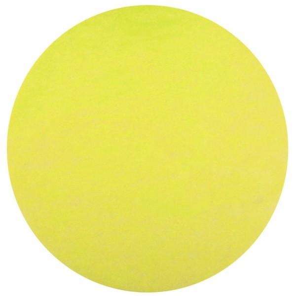 50 Sets de table intissé ronds jaune - Photo n°1