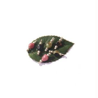 Tourmaline multicolore : 6 MICRO breloques 14 MM de hauteur x 5 MM