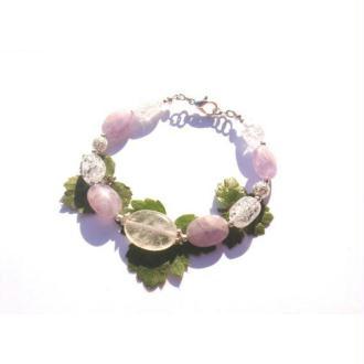 Autour du Féminin Sacré : Bracelet Cristal de Roche, Améthyste, Cristal 19 CM