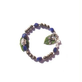 Elévation et Structure : Bracelet Pyrite et Lapis Lazuli 18 CM de tour de poignet
