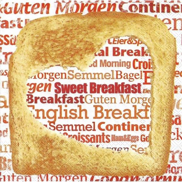 4 Serviettes en papier Petit déjeuner anglais Format Lunch - Photo n°1
