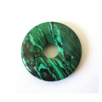 1x Pendentif Donut 30mm MALACHITE VERTE