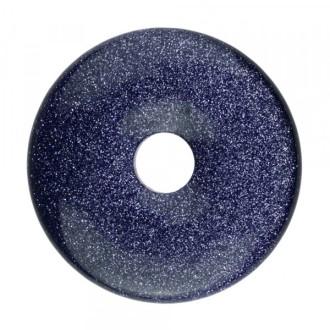 1x Pendentif Donut 30mm BLUE GOLDSTONE