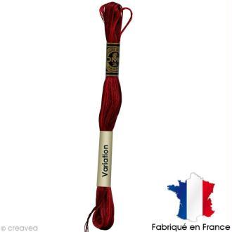 Fil à broder DMC mouliné spécial Dégradé rouge bordeaux 115 - Echevette 8 m
