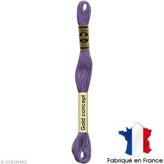 Fil à broder DMC mouliné spécial Violet 155 - Echevette 8 m