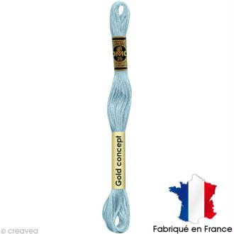 Fil à broder DMC mouliné spécial Bleu 162 - Echevette 8 m
