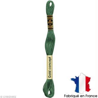 Fil à broder DMC mouliné spécial Vert 163 - Echevette 8 m
