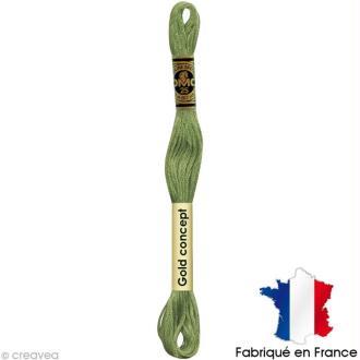 Fil à broder DMC mouliné spécial Vert 164 - Echevette 8 m