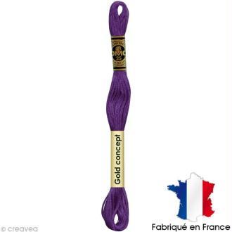 Fil à broder DMC mouliné spécial Violet 208 - Echevette 8 m
