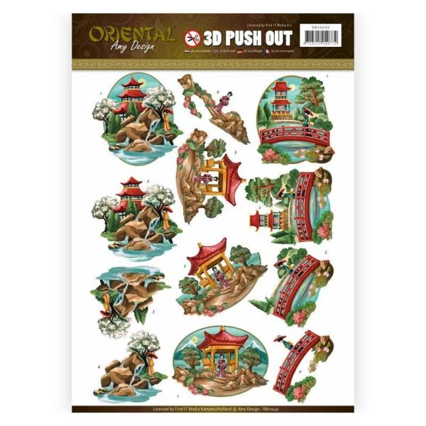 Images 3D prédécoupées Amy Design - Paysage asiatique - Photo n°1