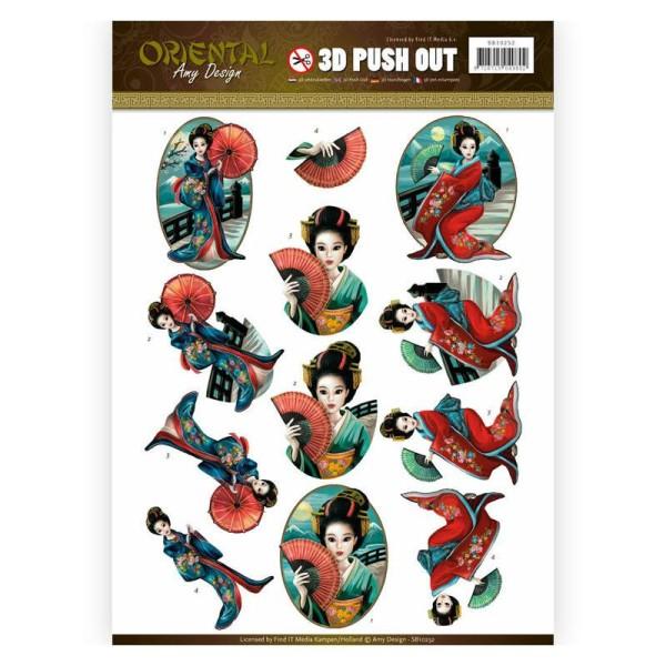 Images 3D prédécoupées Amy Design - Geisha - Photo n°1