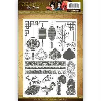 Tampon clear Amy Design - Oriental - Qté 24