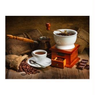 Broderie Diamant Kit - Café nature morte - 60 x 45 cm