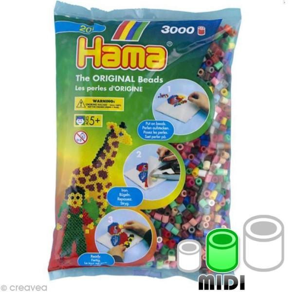 Perles Hama Midi diam. 5 mm - Assort. classique x3000 - Photo n°1
