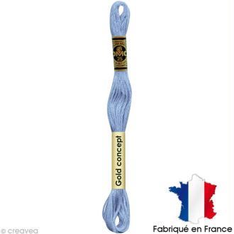 Fil à broder DMC mouliné spécial Bleu 3325 - Echevette 8 m