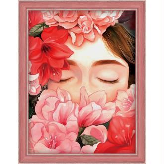 Broderie Diamant Kit - Rêves de fleurs - 20 x 25 cm