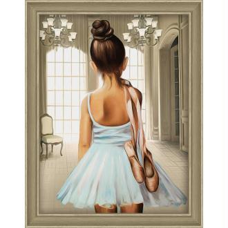 Broderie Diamant Kit - Ballerine - 30 x 40 cm