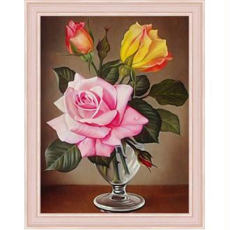 Broderie Diamant Kit - Rose - 30 x 40 cm