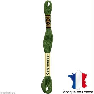 Fil à broder DMC mouliné spécial Vert 3346 - Echevette 8 m