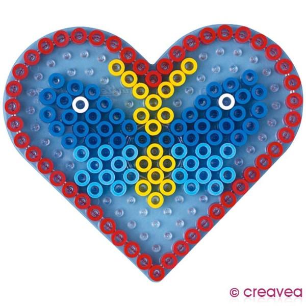 Plaque pour perles Hama Maxi - transparente Coeur - Photo n°2