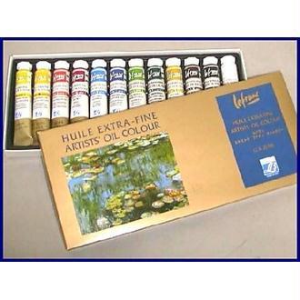 Lefranc & Bourgeois 404596 Pack de 12 Tubes de Peintures huiles Extra-fine 20 ml