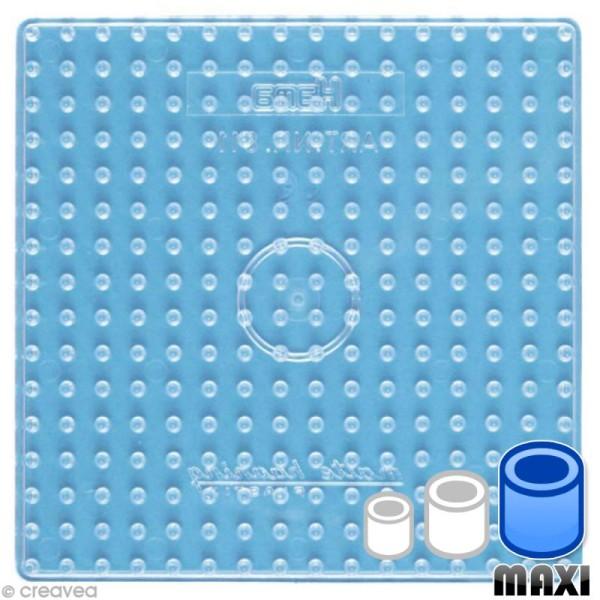 Plaque pour perles Hama Maxi - transparente Carrée - Photo n°1
