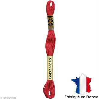 Fil à broder DMC mouliné spécial Rouge 3705 - Echevette 8 m