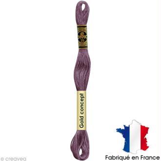 Fil à broder DMC mouliné spécial Violet 3740 - Echevette 8 m