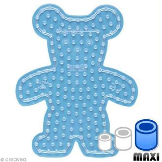 Plaque pour perles Hama Maxi - transparente Nounours