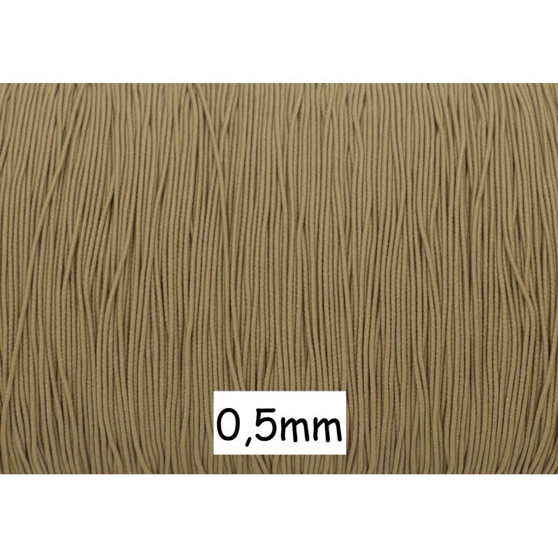 10m fil lastique fin 0 5mm de couleur beige sable fil lastique creavea. Black Bedroom Furniture Sets. Home Design Ideas