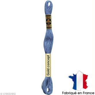 Fil à broder DMC mouliné spécial Bleu 3755 - Echevette 8 m