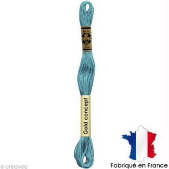 Fil à broder DMC mouliné spécial Bleu 3766 - Echevette 8 m