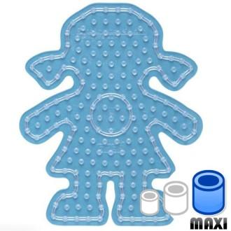 Plaque pour perles Hama Maxi - transparente Fille