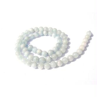 Aigue Marine grade A : 5 Perles 6 MM de diamètre