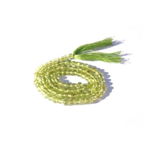Péridot Indien : 10 Petites perles irrégulières 3,5 MM de diamètre environ - Photo n°1