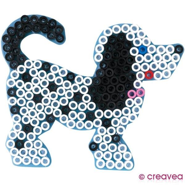 Plaque Pour Perles Hama Maxi Transparente Chien Plaque Perles à