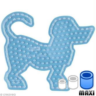 Plaque pour perles Hama Maxi - transparente Chien