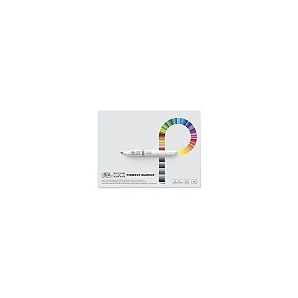 Winsor & Newton Pigment Marker Lot de 50 Papiers à dessin 1 Cote A4 75 g Blanc - Photo n°1