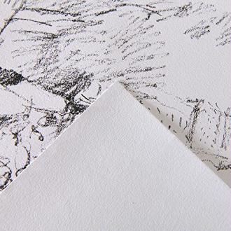 Canson 1557 204127415 Bloc 30 feuilles Papier à dessin 180g Grain Léger A3 Blanc Pur