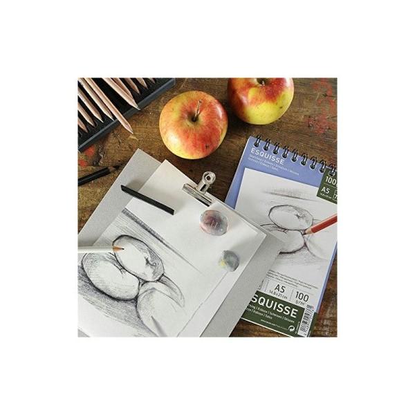 Canson 200005778 Album Esquisse 20 feuilles Papier à dessin 100g 29,7 x 42 cm - A3 Blanc - Photo n°1