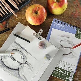 Canson 200005778 Album Esquisse 20 feuilles Papier à dessin 100g 29,7 x 42 cm - A3 Blanc