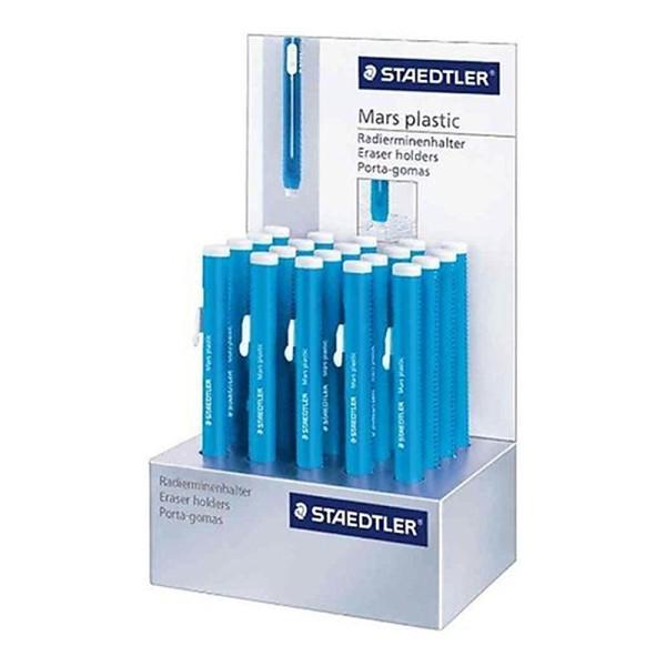 Staedtler Mars Plastique Boite présentoir de 20 stylos gomme - Photo n°1