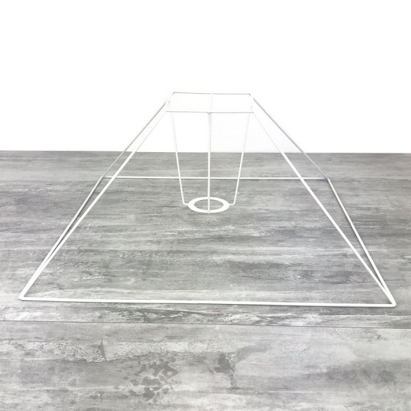 Carcasse Abat-Jour Pyramide basse 30x8x20 cm, Armature Carré bas 4 branches en epoxy anticorrosion , - Photo n°1