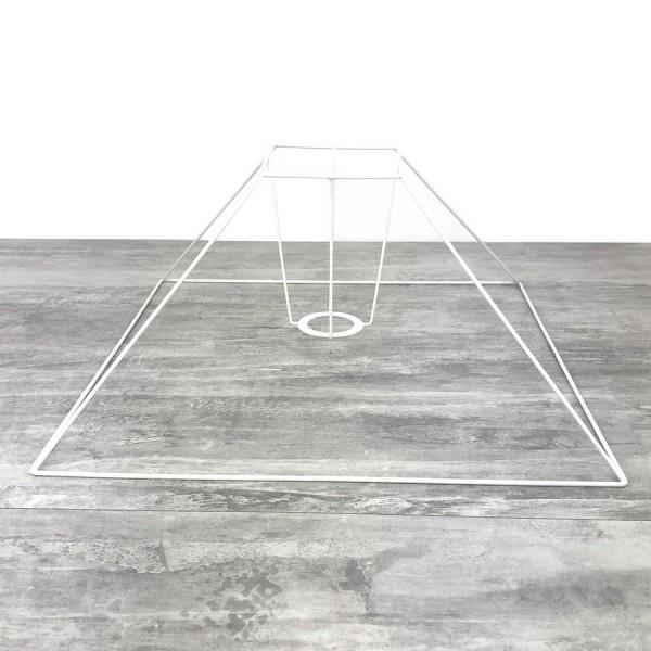 Carcasse Abat-Jour Pyramide basse 40x11x27 cm, Armature Carré bas 4 branches en epoxy anticorrosion - Photo n°1